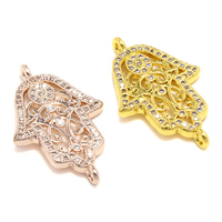 Cubic Zirconia Micro Pave Brass Connector