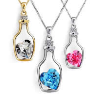 Crystal Zinc Alloy Pendants