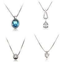 Cubic Zirconia Sterling Silver Necklace
