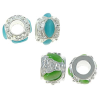 Cats Eye Zinc Alloy European Beads