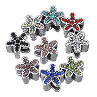 Rhinestone Zinc Alloy European Beads