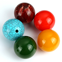 Imitation Gemstone Resin Beads