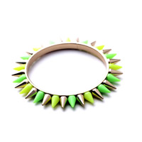 Resin Zinc Alloy Bangle