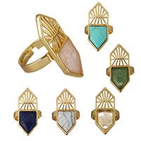 Gemstone Brass Finger Ring