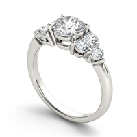 Cubic Zirconia Sterling Silver Finger Ring