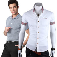 Men Short Sleeve Casual Shirts