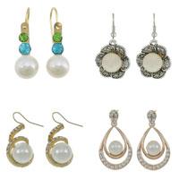 Glass Pearl Drop Earring