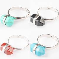Gemstone Zinc Alloy Finger Ring