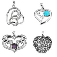 Stainless Steel Heart Pendants