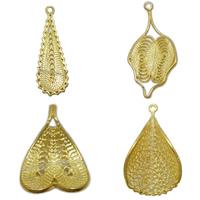 Brass Hand Knitted Pendants