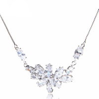 Brass Cubic Zirconia Necklace
