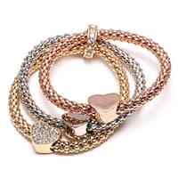 Zinc Alloy Rhinestone Bracelets