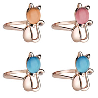 Cats Eye Zinc Alloy Finger Ring