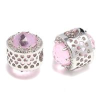 Cubic Zirconia Brass Beads