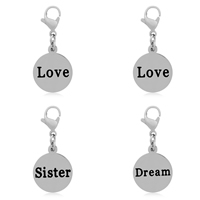 Stainless Steel Lobster Clasp Charm