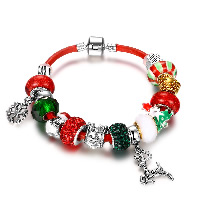 Zinc Alloy Christmas Bracelet
