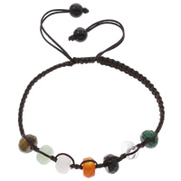 Gemstone Woven Ball Bracelets