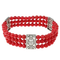 Synthetic Coral Bracelets