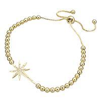 Cubic Zirconia Micro Pave Brass Bracelet