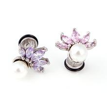 Stainless Steel Pearl Stud Earring
