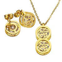 Rhinestone stainless steel Jewelry Set